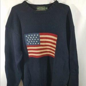 Polo Ralph Lauren Country USA Flag Rare Sweater